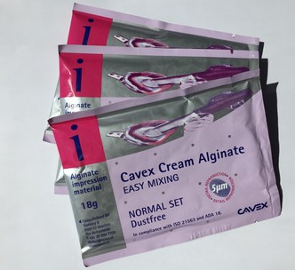 CAVEX CREAM ALGINATE NORMAL 18G 300ST ZAKJES