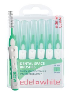 EDELWHITE INTERDT BRUSH GROEN 5MM L 6ST EQ-ID6L