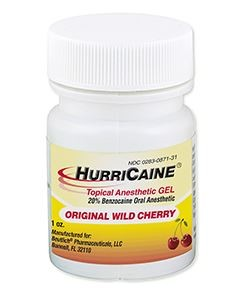HURRICAINE TOPICAL ANESTHETIC GEL CHERRY