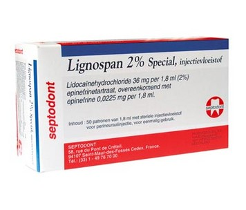 LIGNOSPAN 2% ADRENALINE SEPTODONT